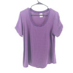 🌿 Purple Striped Calia Shirt Size XL